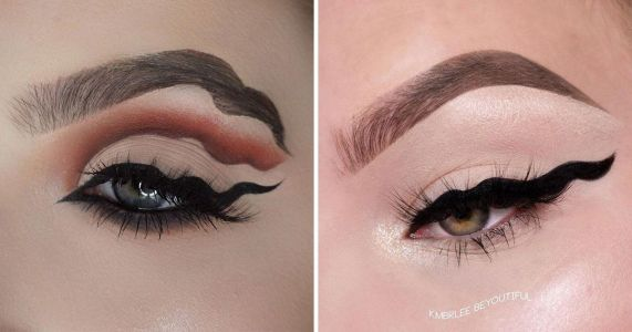 Squiggle eyeliner is here - and we're hoping this marks the end of the wavy trend
