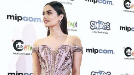 Manushi Chhillar glams up Cannes in pink off-shoulder gown
