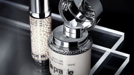 How does La Prairie's White Caviar collection decipher the secret to luminous skin?