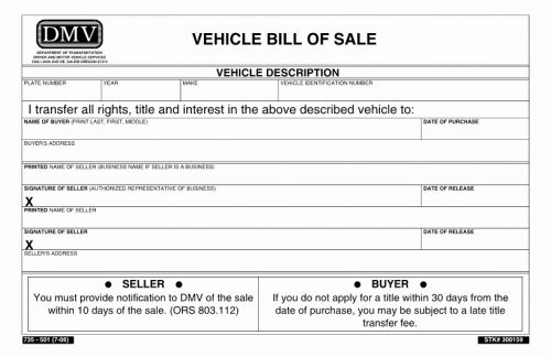 30 Best Of Automobile Bill Of Sale Template Pics