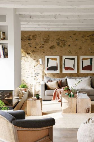 A Spanish Home Decorated in Soft Tones