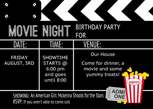 30 Beautiful Movie Party Invitations Template Pictures