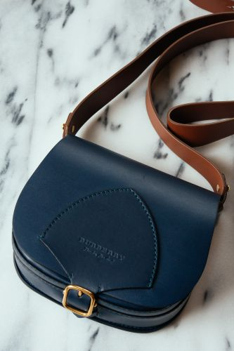 Meet Our Latest Bag Crush: The Burberry Satchel in Indigo Leather