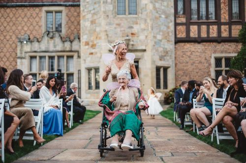 This 86-year-old grandma did a great job as her granddaughter's flower girl