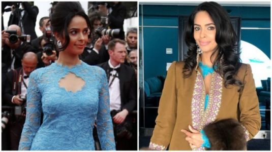 Mallika Sherawat repeats Cannes 2014 dress at Cannes 2019 red carpet. It is still bad