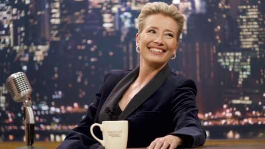 Emma Thompson's Chic Pantsuits in 'Late Night' Pay Tribute to Talk Show Legends Joan Rivers and Ellen DeGeneres