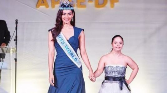 Manushi Chhillar walks the ramp with a Down Syndrome patient
