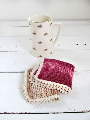 DIY: How to make a knitted cotton facecloth