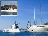 Russian oligarch's £240m Motor Yacht A undergoes refit