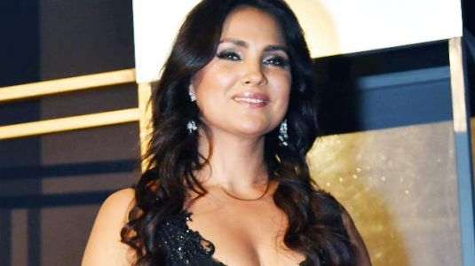 Lara Dutta looks like a midnight princess in this shimmery gown