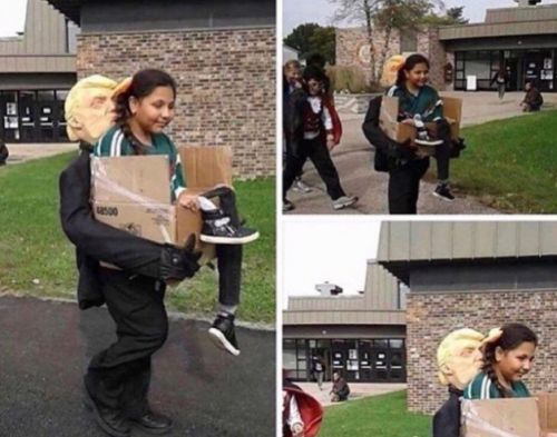 So, how do we feel about this 'Getting Deported by Trump' Halloween costume?
