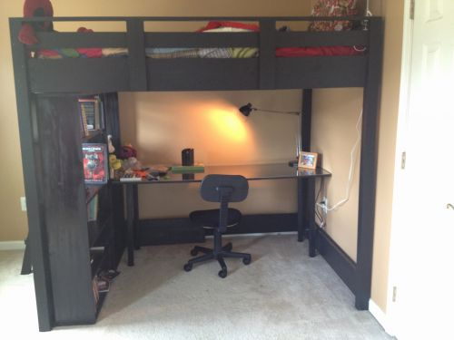 20 New Full Size Loft Bed with Desk Underneath Pictures
