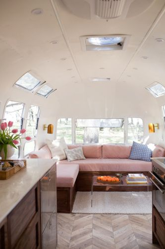 A SMALL BUT STYLISH AIRSTREAM MOBILE HOME
