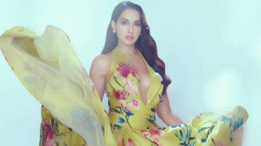 Nora Fatehi in Rs 5 lakh halter-neck floral ball gown is a vision to behold