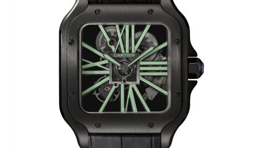 The Santos de Cartier Skeleton is a time-telling nocturnal animal