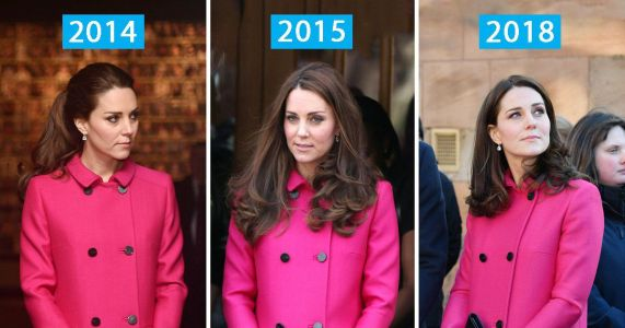 Thrifty Kate Middleton recycles hot pink £1,500 Mulberry coat to hide baby bump - where you can buy one just like it