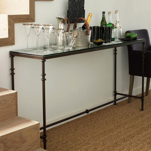 50 Awesome Metal and Glass Console Table Pictures