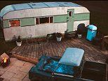 Inside Bluebird Penthouse in Devon, the 1950s caravan transformed into a stunning suite