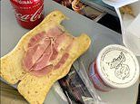Holidaymaker shares picture of his dry, undercooked £4 bacon ciabatta roll on a TUI flight