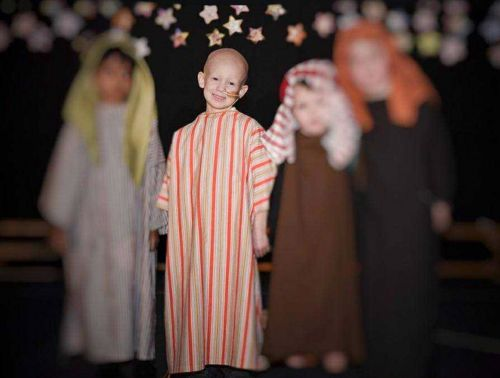 A five-year-old starred in his first nativity play and rang a bell to celebrate the end of chemotherapy