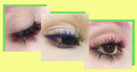 Dip-dye hair is a thing of the past, it's all about ombre lash extensions now