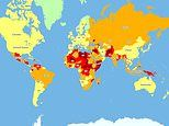 Maps show Finland, Norway and Iceland are the safest places but Libya and Afghanistan are riskiest