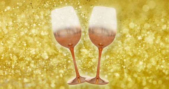 Asda is selling rose gold glassware and it's super glam