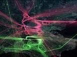 Amazing radar animation shows 24 hours of flights over London