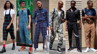 Jumpsuits and Overalls Were Popular Among Showgoers At New York Fashion Week: Men's