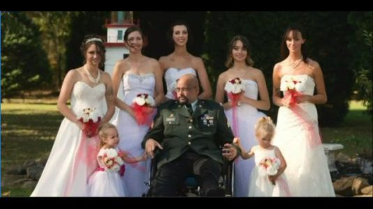 Dad fulfills his dying wish to walk all seven daughters down the aisle