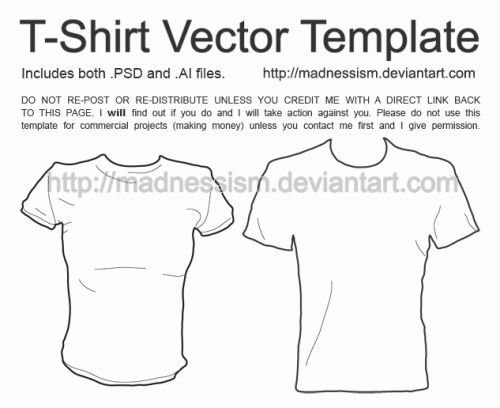 30 Lovely Vector T Shirt Template Pictures
