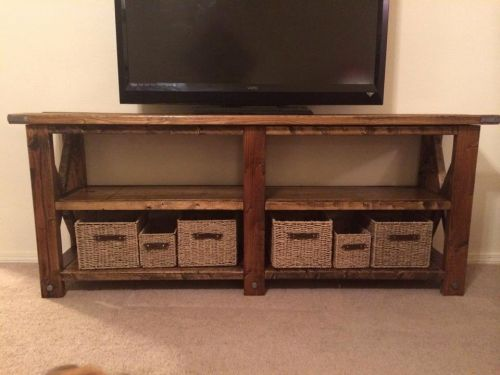 50 Unique Rustic Tv Console Table Pictures