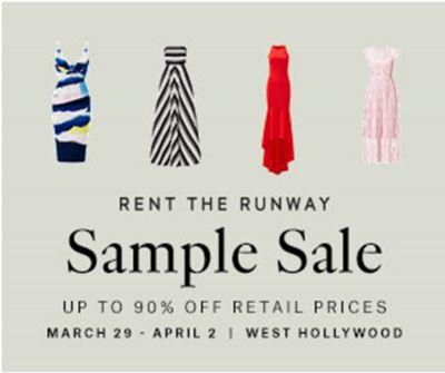 LA'S FIRST RENT THE RUNWAY SAMPLE SALE AND YOU WONT BELIEVE WHICH BRANDS ARE THERE