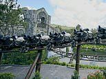 Video footage and new photos show Universal Orlando Resort's Hagrid roller coaster in action