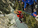 Experiencing the terror of the Shotover Canyon Swing in Queenstown, New Zealand
