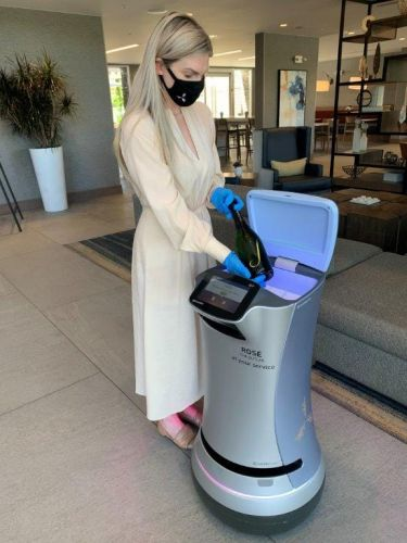 If you stay at a hotel during the pandemic, a robot may deliver wine to your door or clean your room
