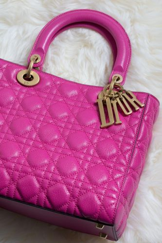 Color Crushing on the Lady Dior Bag in Hot Pink