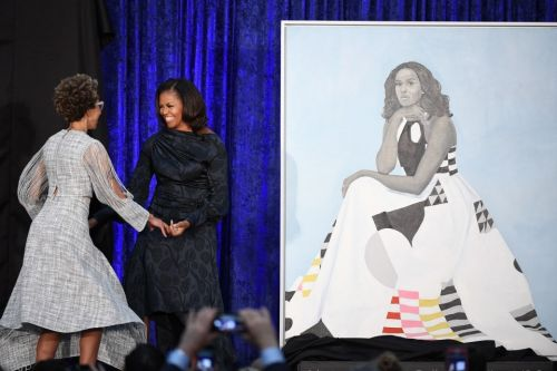 The Michelle Obama portrait is striking - and so is the gown she wore for it. This is its story