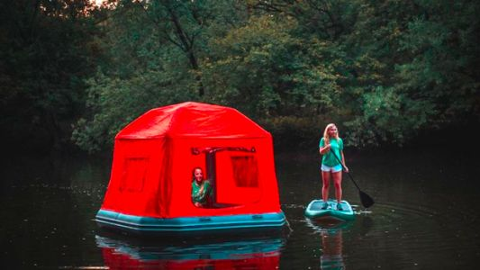 This Magical Floating Tent Will Make The World Your Waterbed