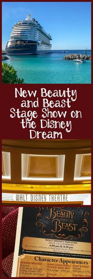 New Beauty and Beast Stage Show on the Disney Dream