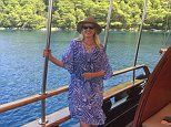 Anneka Rice treats her family to their own luxury boat as they set sail on a Croatian voyage