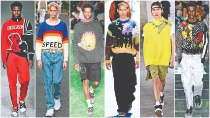 Knitted to thrill: SS19 saw menswear designers showcasing graphic knits