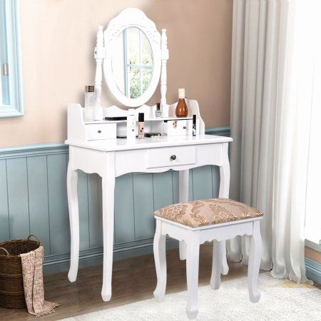 30 Unique White Vanity Desk with Drawers Graphics