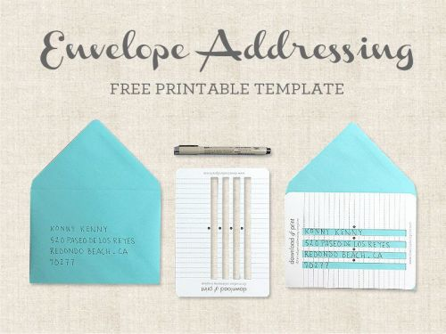 30 Luxury Printing On An Envelope Template Graphics