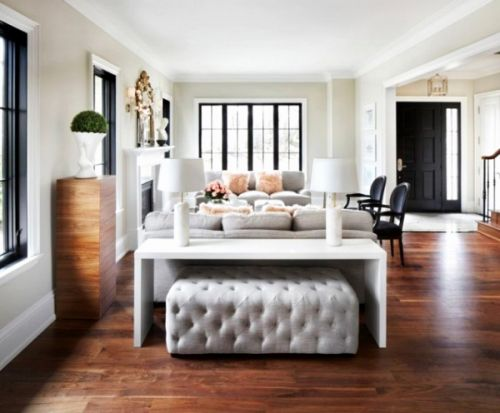 50 Beautiful Console Table with Ottomans Images
