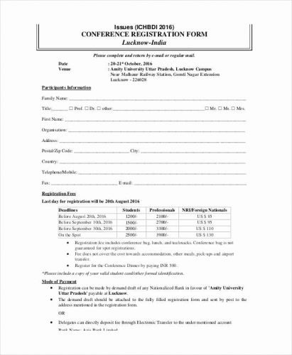 30 Inspirational Vbs Registration form Template Pictures