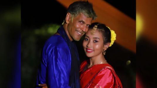 Milind Soman and Ankita dance to Made In India at their wedding. Watch throwback video