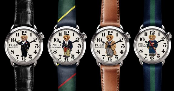 The Polo Bear Watch Collection is a charming tribute to Ralph Lauren's iconic mascot