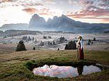 Photographer Anita Demianowicz snaps herself in countries around globe wearing traditional costume