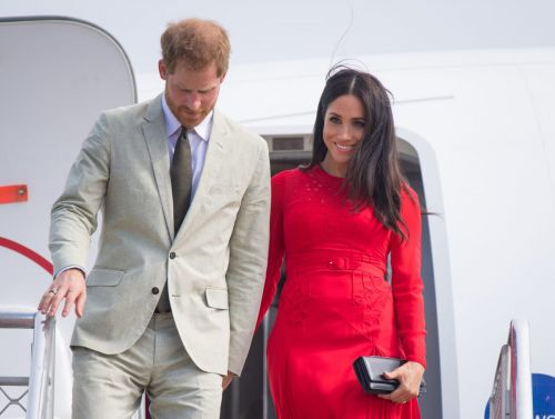 Meghan Markle Wore a Thing: Red Self-Portrait Dress in Tonga Edition